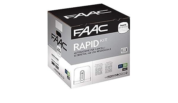 Faac Rapid - Kit de automatización electromecánica, 24 V, puertas correderas, peso máximo de la puerta 400 kg, motor C720-C721 1059995: Amazon.es: Bricolaje y herramientas