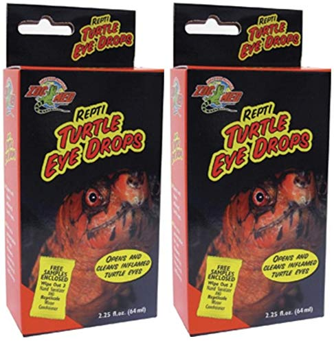Zoo Med 2 Pack of Repti Turtle Eye Drops, 2.25 Ounces Per Bottle