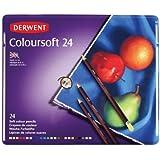 Derwent Coloursoft Matite Colorate in Scatola di Metallo (Confezione da 24)
