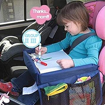 Kids Car Seat Travel Tray Learn Waterproof Activity Lap For Eating And