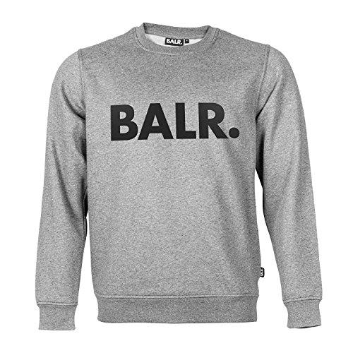 BALR Brand Crew Neck Sweater Grey XL by BALR