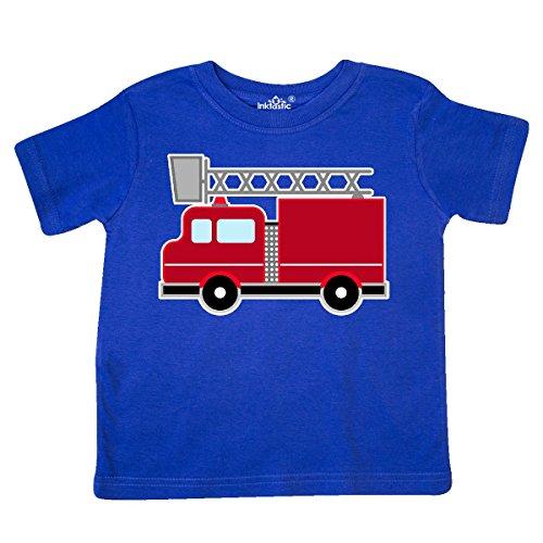 inktastic - red Firefighter fire Truck Toddler T-Shirt 3T Royal Blue 2871a ()