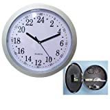 Wall Clock Hidden Safe Home Security Secret Hide Away Valuables Compartment Cash