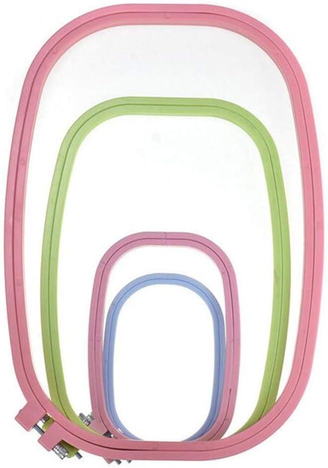 Rechteck Stickrahmen Kreuzstich Rahmen Kunststoff Werkzeug Nähen Oval Tool Part