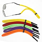 Hapdoo 5 Pack Adjustable Floating Foam Eyewear Retainer Strap Rope Cord for Sports Sunglass Eyeglass Safety Holder