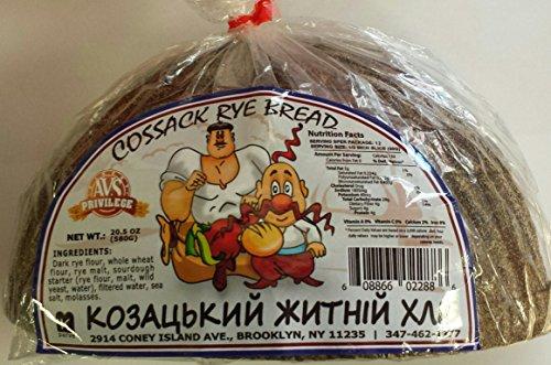 Russian Ukrainian European Cossack Rye Bread Pack of 4 by BAKERY