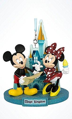 Disney World Park 2018 Magic Kingdom 3D Mickey & Minnie Ornament