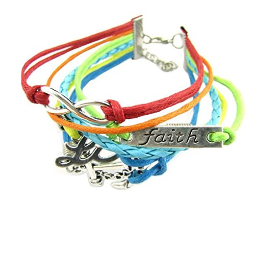 willsa-colorful-faith-love-anchor-design-faux-leather-diy-charm-bracelet
