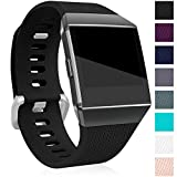 For Fitbit Ionic Bands, Maledan Classic Replacement Accessory Wristbands for Fitbit Ionic Smart Watch, Black Large