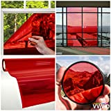VViViD Transparent Colorful Vinyl Window Tinting Sheets (5ft x 5ft, Red) (Color: Red, Tamaño: 5ft x 5ft)