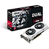 Asus AMD Radeon DUAL-RX480-O8G 8 GB Gddr5 256 Bit Memory PCI Express 3 DVI/HDMI/DisplayPort Graphics Card - Black