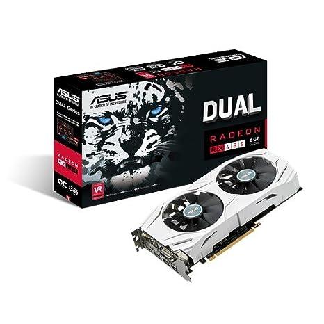 ASUS DUAL-RX480-O8G Radeon RX 480 8GB GDDR5 - Tarjeta gráfica (AMD ...