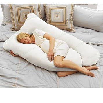 Amazon.com: Hoy Mom Coolmax Embarazo almohada, color blanco ...