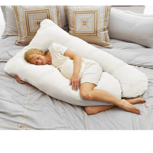 B0028S5KSY Coolmax Pregnancy Pillow - White 51RJJbI8hZL