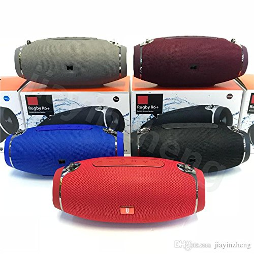 Truvic Mini X6U Portable Wireless Bluetooth Ru gby Style Mobile/Tablet Speaker Colour May Very