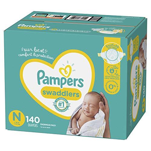 Pampers Swaddlers – Pañales desechables para bebé, paquete grande.