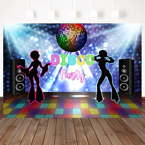 (Mehofoto Disco Party Backdrop Shining Stage Background Retro Ballroom Background 7X5ft Vinyl Background Vintage Photo Backdrop Studio Booth)