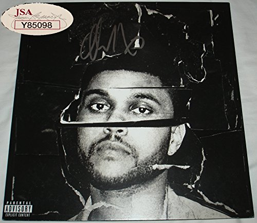 The Weeknd Signed / Autographed Beauty Behind the Madness Album / LP - JSA Y85098