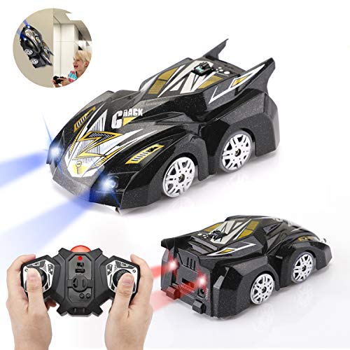 Morpilot Remote Control Car Toy, Rechargeable Wall Climbing Climber Car with New Remote Control, Dual Mode 360° Rotating Stunt Car Racing Vehicle, LED Head Gravity-Defying, Gift for Kids Boy