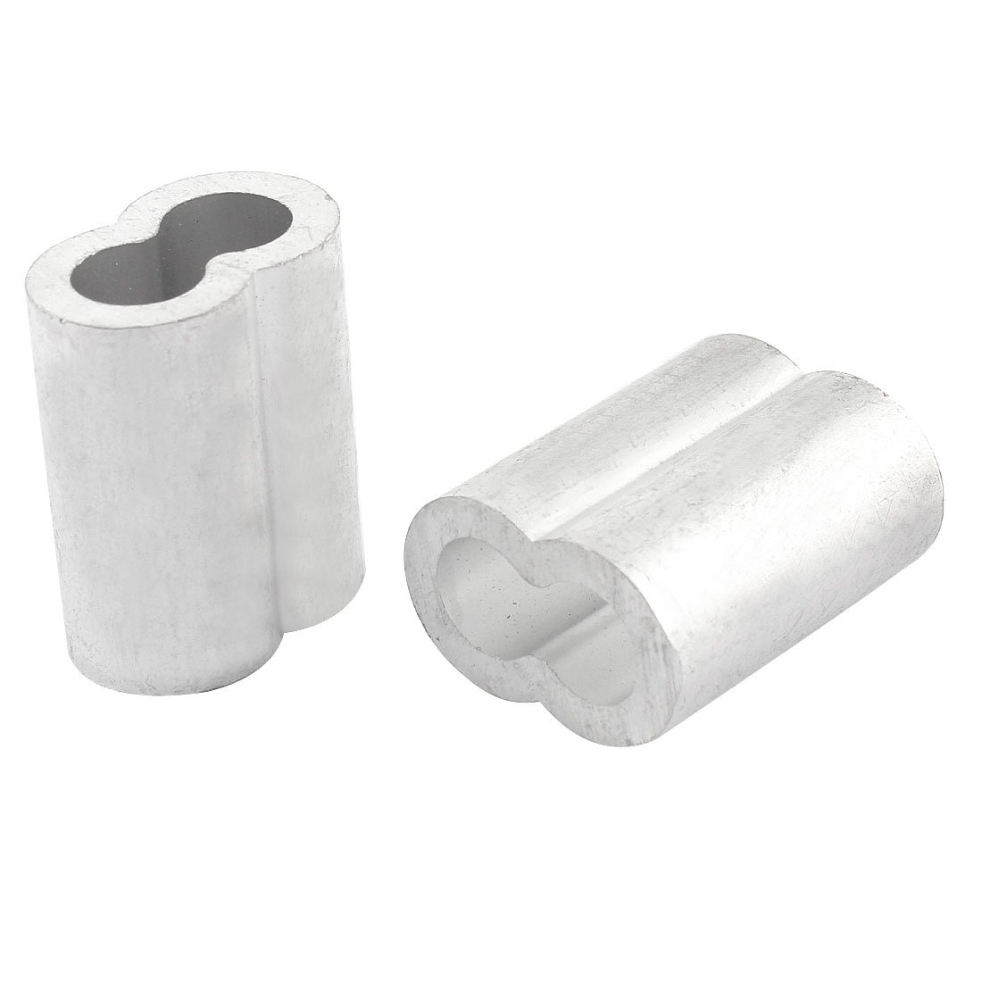Aluminum Sleeve for 3/8 Inch Steel Wire Rope Swage Clip 2pcs ...