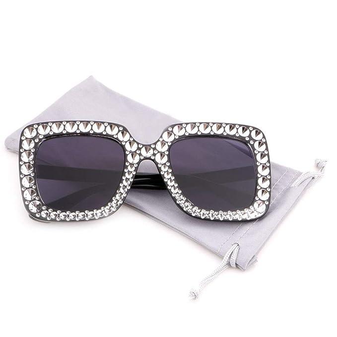 Amazon.com: creamily anteojos de sol de gran tamaño mujer ...