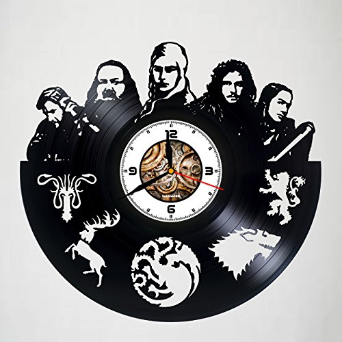 GAME OF THRONES - CHARACTERS - Movie, Vinyl Wall Clock, Best Gift For Girl, Vinyl Record, Kovides, Birthday Gift, Silent, Wall Sticker, Modern Wall Art, Pictures Home Décor - Customize your clock ! -