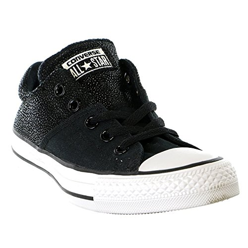 Leather Madison Converse Metallic Star Chuck All Black Taylor Sneaker 1wwqAHTP