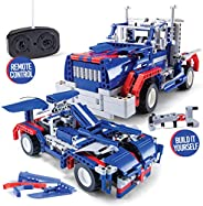 Stem Building Toys for Boys Building Sets stem Toys 2 in 1 rc car stem Kits for Boys Gift Toys for Boys Ages 5