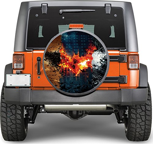 Logo of Batman Sticker Full Color Spare Tire Cover Decal, Sticker Wheel Cover gc1598