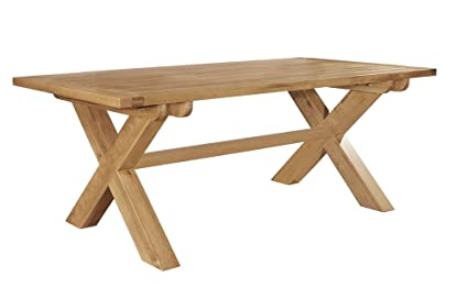 Astounding Chiltern Grand Oak Fixed Top Cross Leg Dining Table Amazon Squirreltailoven Fun Painted Chair Ideas Images Squirreltailovenorg