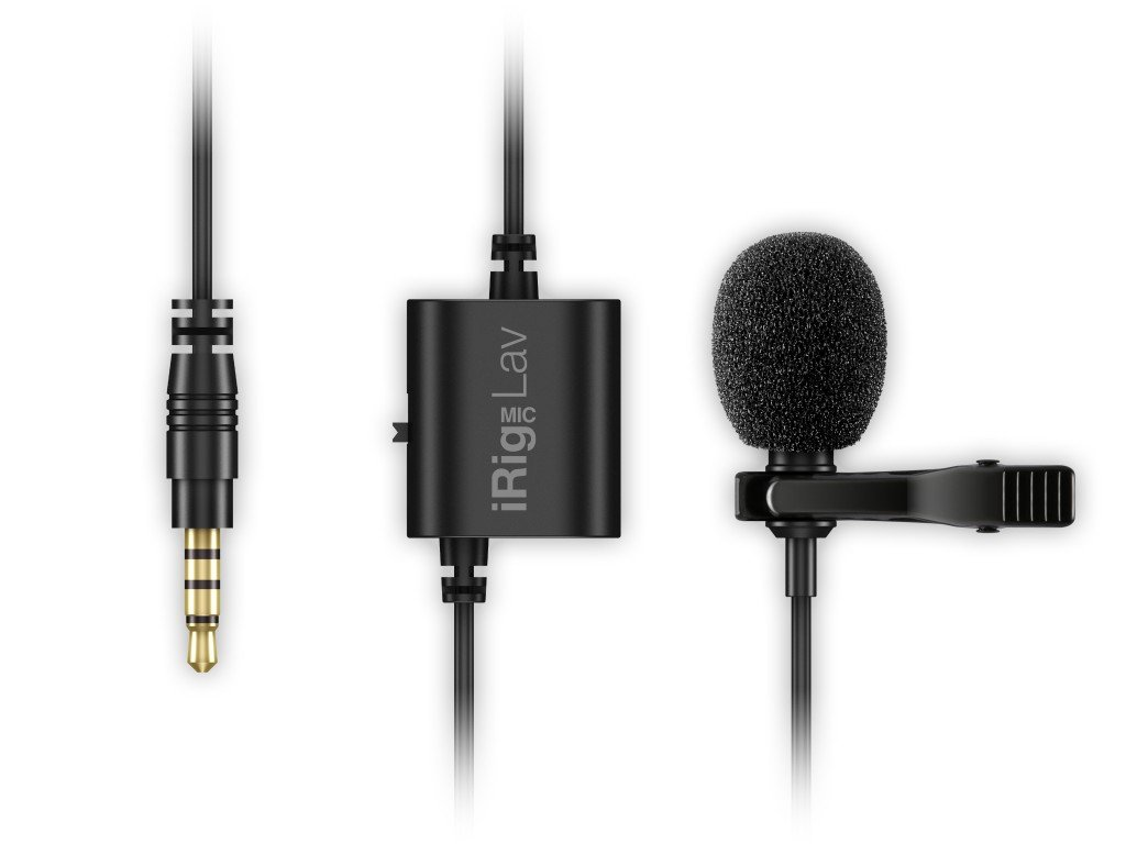 IK Multimedia iRig Mic Lav compact lavalier microphone for smartphones and tablets