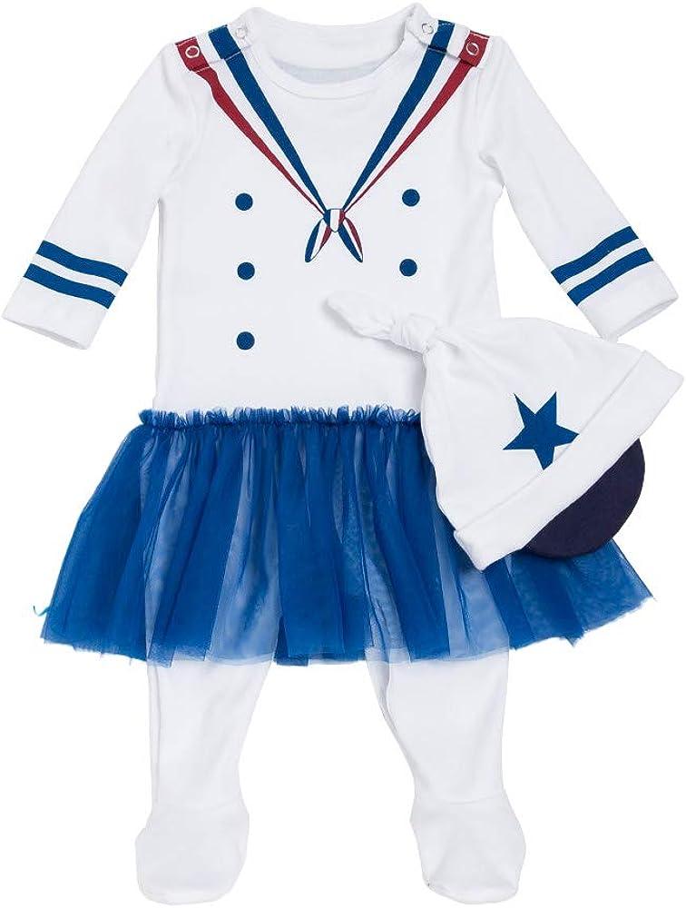 Liyukee - Bebé Niñas Niños Marinero Disfraz Bodies con Gorro ...