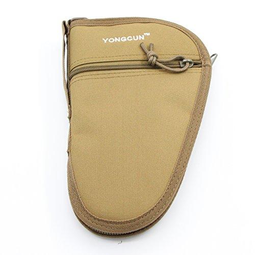 Pistol Rug Case (YONGCUN Pistol Bag Pistol Case Hand Gun Cases Pistol Rug Size 10.5inch Tan 600D PVC)