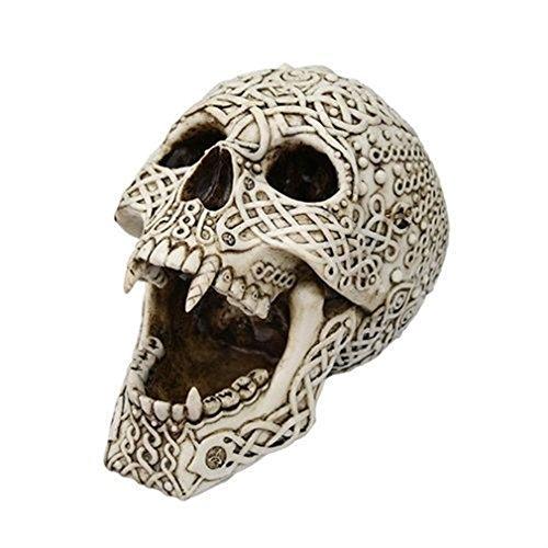 Ky & Co YesKela Celtic Dracula Vampire Skull Statue Decoration Figurine Halloween 7