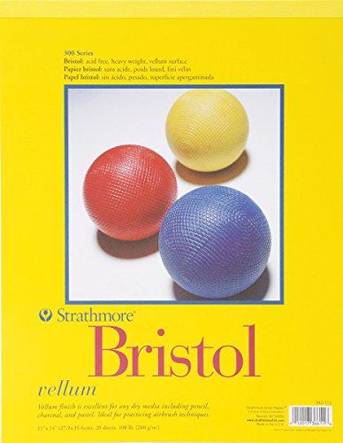 Strathmore 300 Series Bristol Pad - 11-Inchx14-Inch - 20 Sheet (Pastel Vellum Papers)