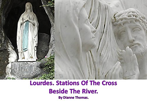 Lourdes. Stations Of The Cross Beside The River.