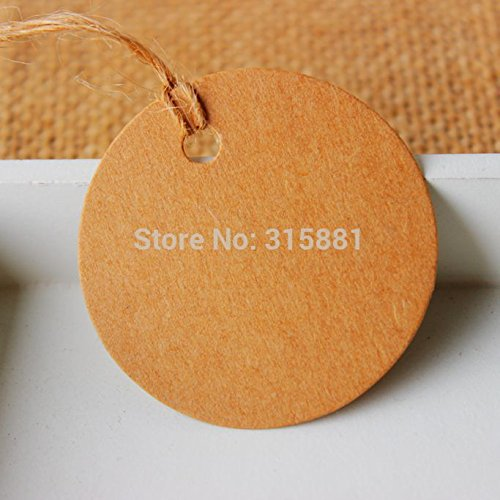 Round Label Tie String Price Tag Jewelry Display Tag Tags Dia:4.8cm