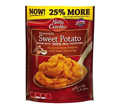 Betty Crocker Homestyle Sweet Potato Mashed Potatoes, 5.6 Ounce - 7 per ()