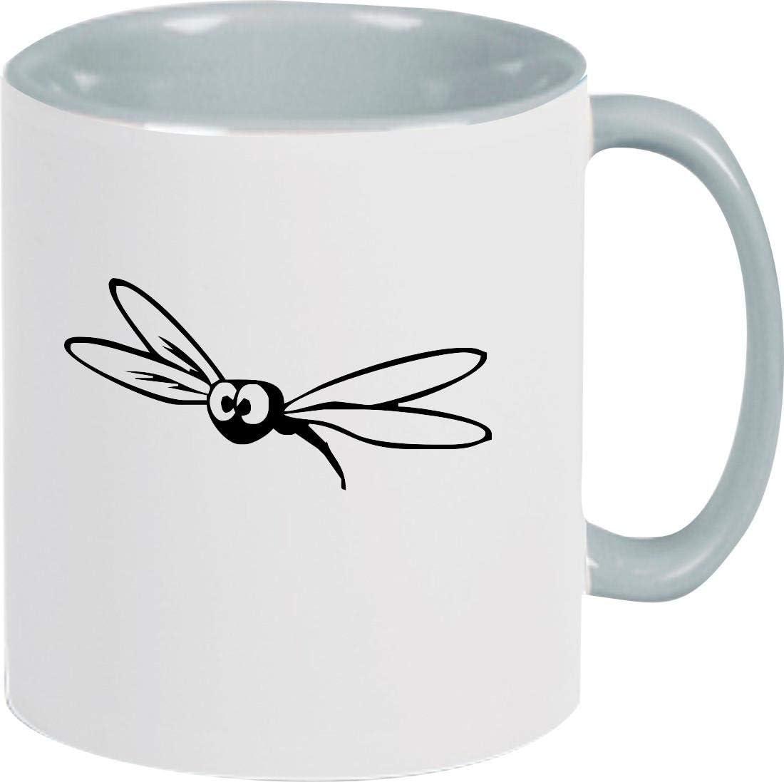Shirtstown - Taza de café con insecticida, diseño de Animales, cerámica, Gris, 375 ml
