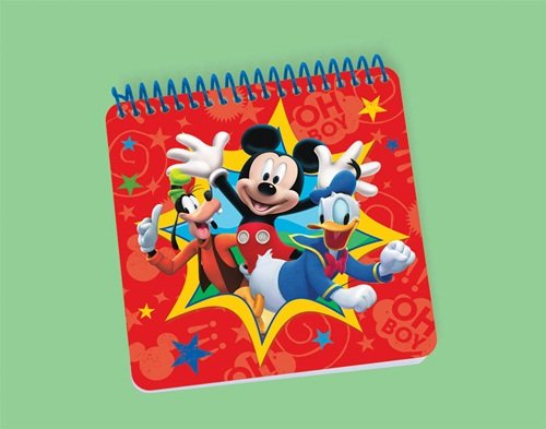 Mickey Mouse Spiral Notepad -