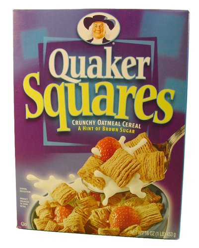 UPC 030000064306, Quaker Oatmeal Squares Cereal Crunchy Oatmeal Brown Sugar - 12 Pack