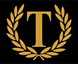 Letter T (Gold), LARGE SIZE, Decorative Monogram - 9