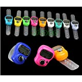 Worldoor® 5 Stitch Marker and Row Counter LCD Electronic Digit Tally Counter Hot