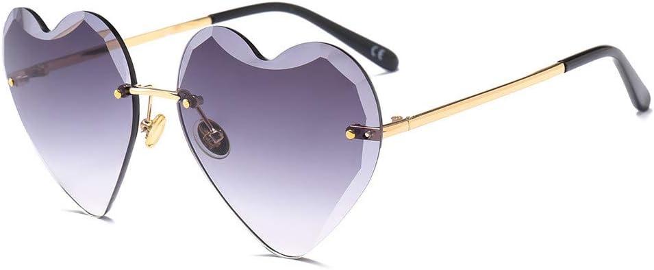 AOTEX Sonnenbrillen Randlos Herzen Eyewear Oversized Sport Ultra Light Fashion Retro Fahren Metallrahmen Unisex Inspirierte Runde Frauen M/änner Jahrgang L/äuft Im Sommer Schatten Zubeh/ör