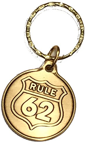Rule 62 AA Keychain Medallion Sobriety Chip Key Tag -
