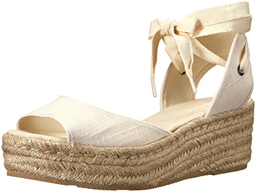 Soludos Women's Open-Toe Platform (60mm) Espadrille Wedge Sandal, Blush, 8 Regular US
