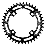 DECKAS 104BCD 40T 42T 44T 46T 48T 50T 52T Narrow Wide Chainring Single Chainring for 9/10/11-Speed (Round Black, 46T) (Color: Round Black, Tamaño: 46T)