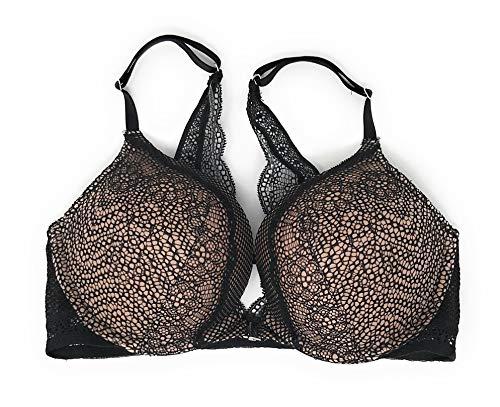 Victoria Secret Push Up Bra - Victoria's Secret Bombshell Add-2-Cups Push-Up Bra 30B Nude Black Fishnet Lace Front Close