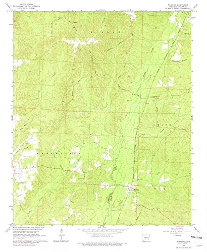 Manning AR topo map, 1:24000 scale, 7.5 X 7.5 Minute, Historical, 1965, updated 1981, 26.8 x 22 IN - - Jordon Creek