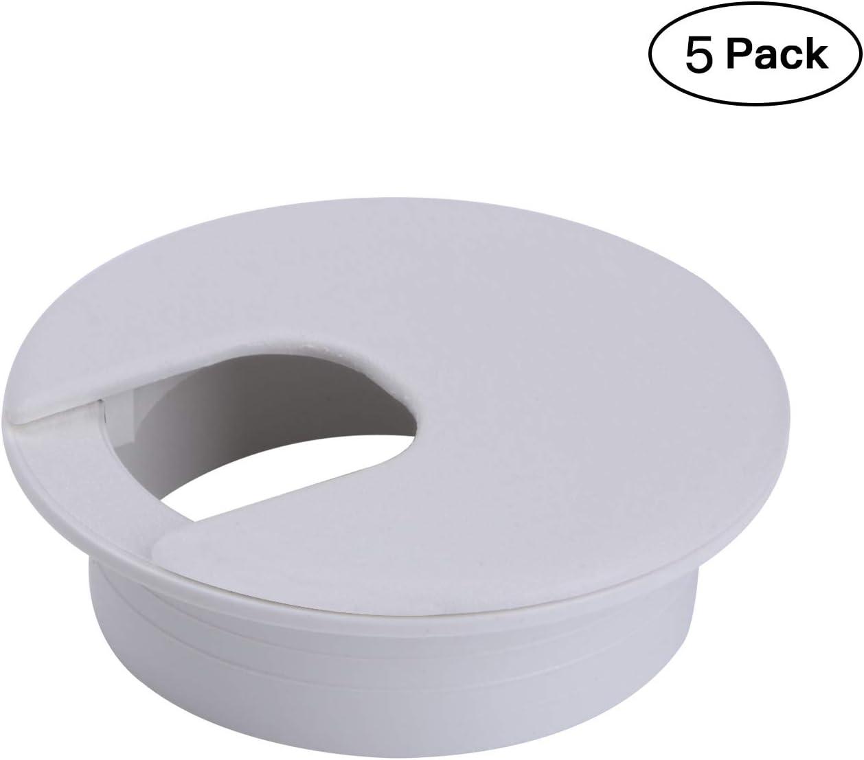 """2"""" White Desk Grommet (5 Pack) (White)"""